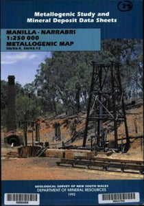 Image of Manilla Narrabri Metallogenic Map Explanantory Notes 1992 book cover