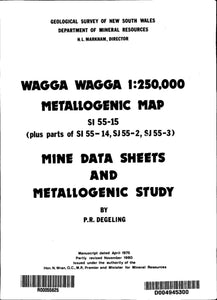 Image of Wagga Wagga Metallogenic Map Explanatory Notes 1982 book cover