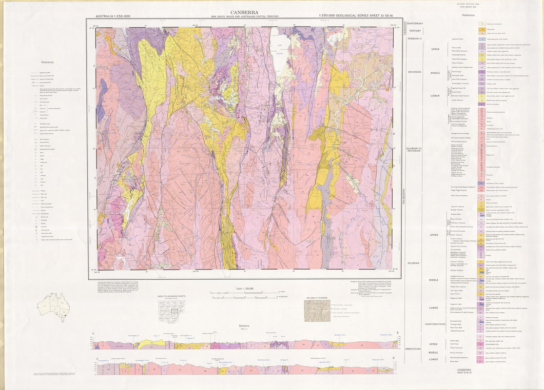 Image of Canberra 1:250000 Geological map