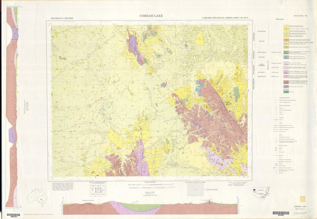 Image of Cobham Lake 1:250000 Geological map
