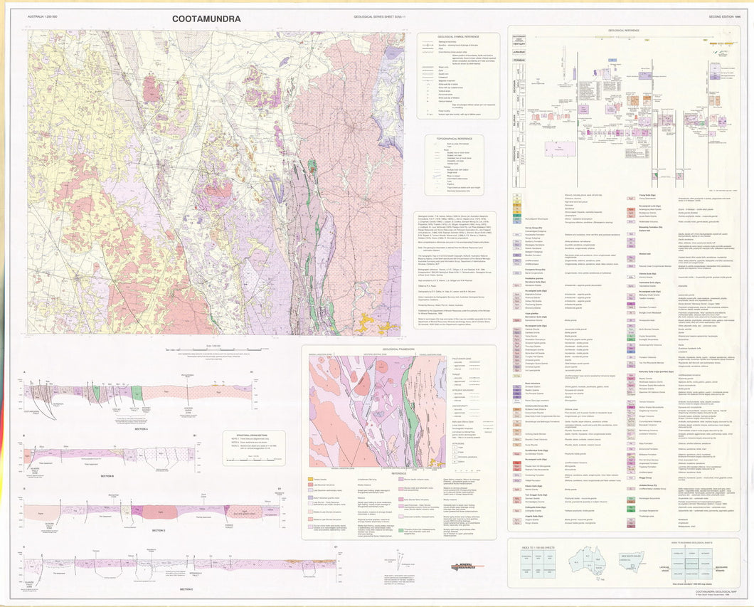 Image of Cootamundra 1:250000 Geological map