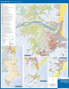 Image of reverse side of the Shoalhaven Area Coastal Quaternary Geology map.