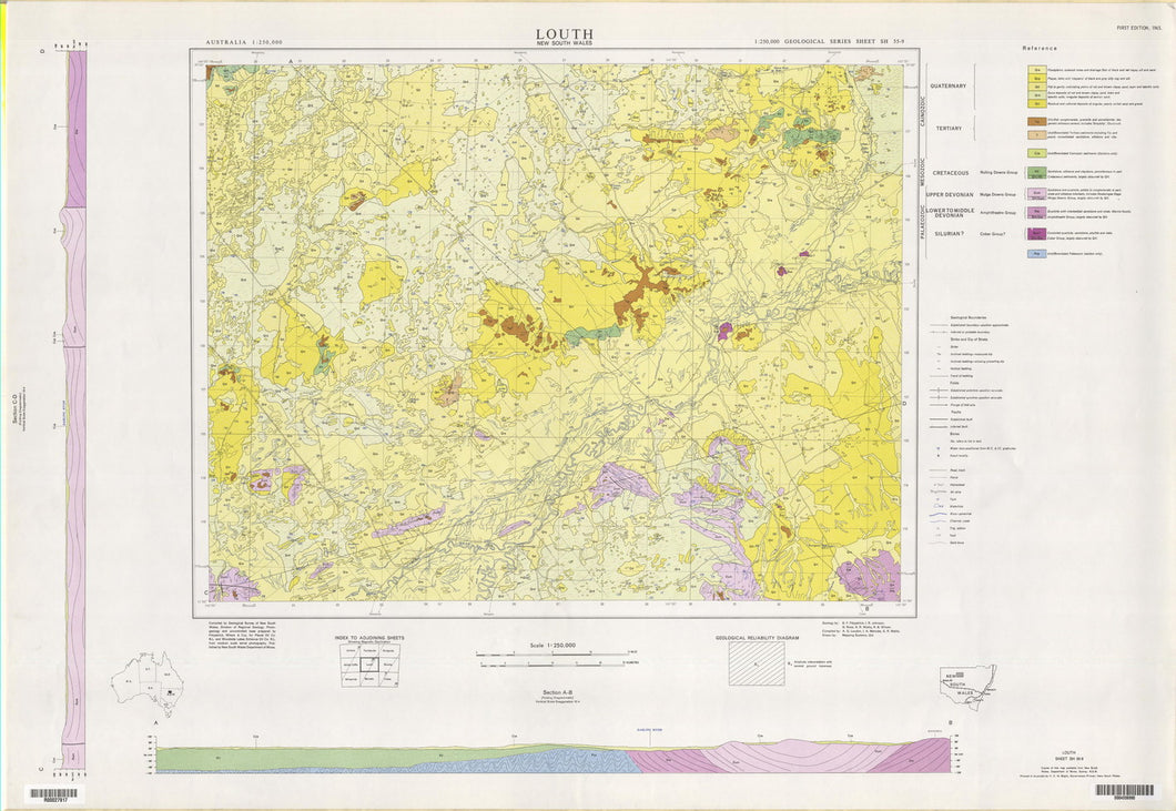 Image of Louth 1:250000 Geological map