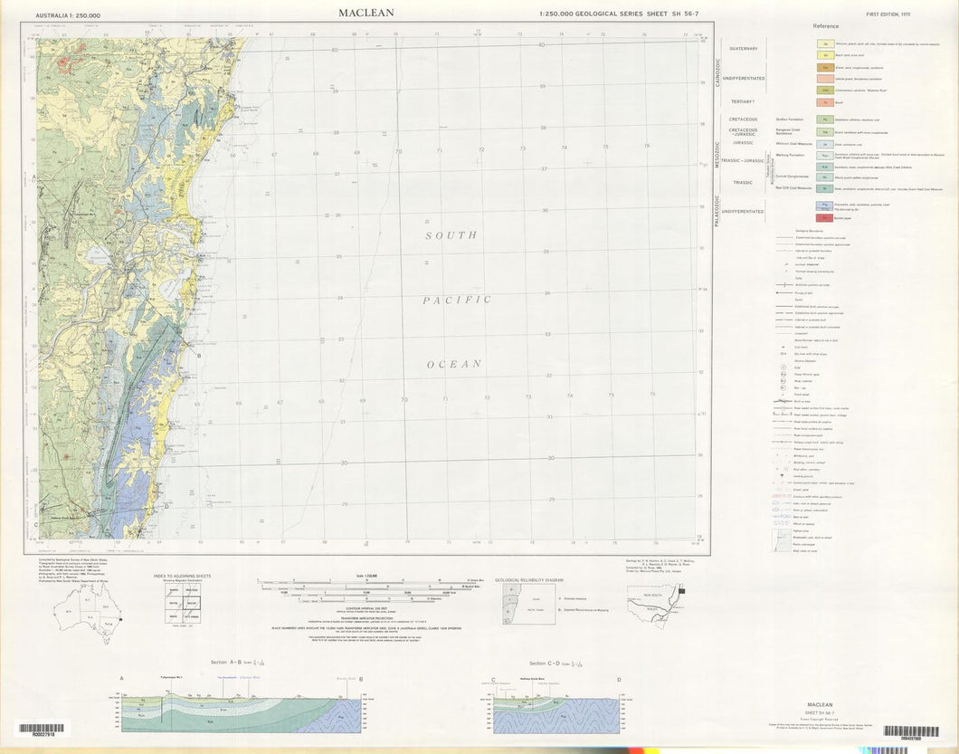 Image of Maclean 1:250000 Geological map