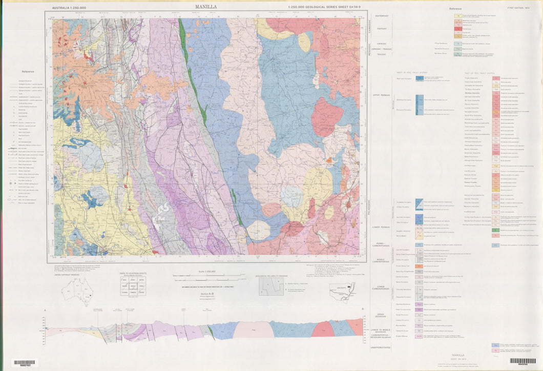 Image of Manilla 1:250000 Geological map