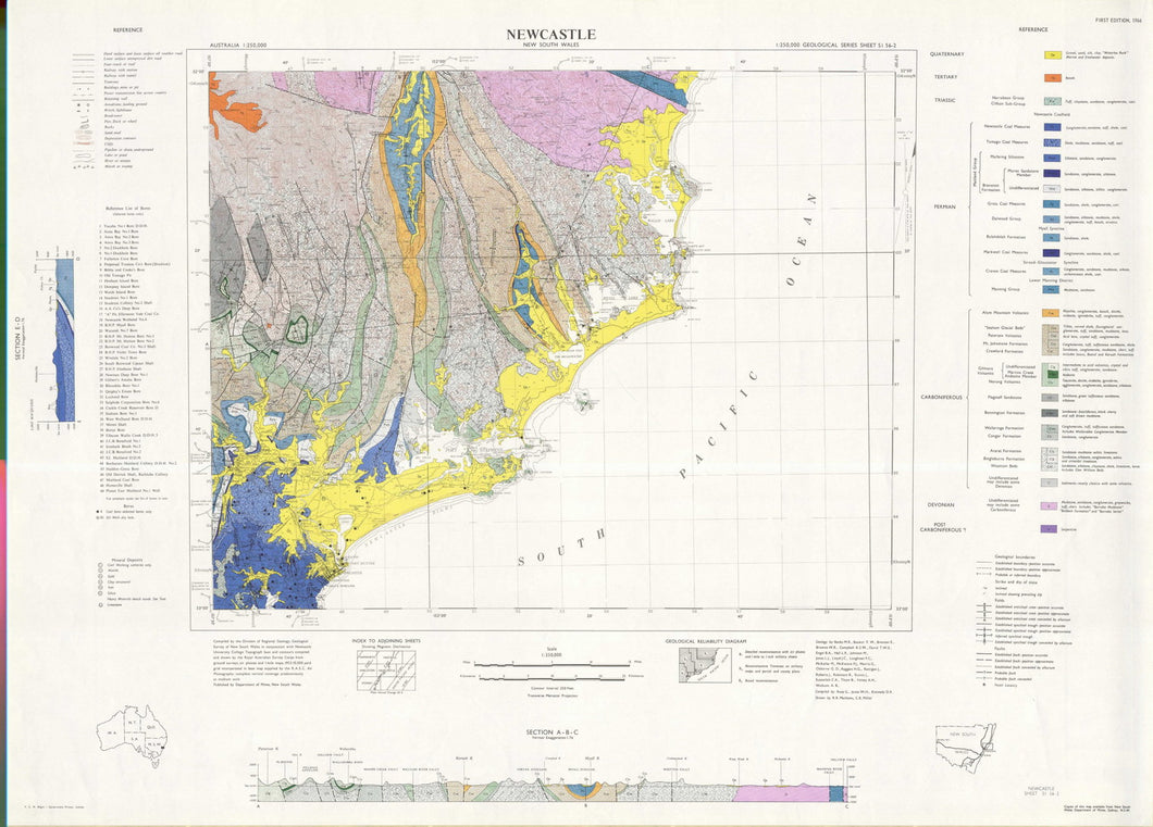 Image of Newcastle 1:250000 Geological map