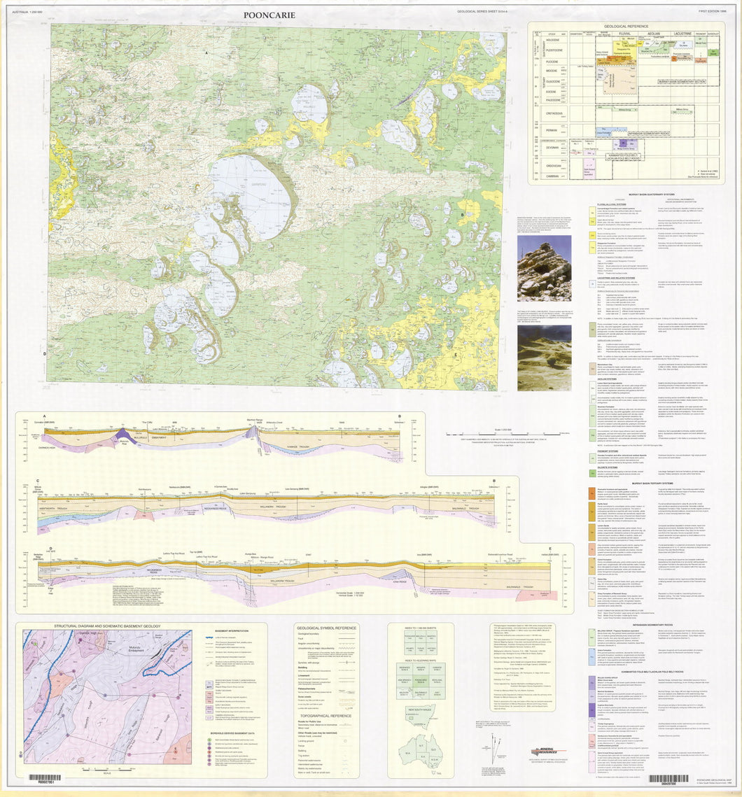 Image of Pooncarie 1:250000 Geological map