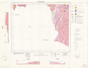 Image of Tallangatta 1:250000 Geological map