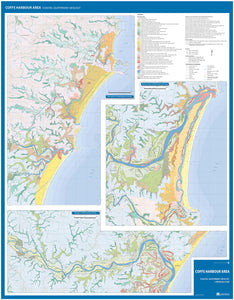 Image of reverse side of Coffs Harbour Area Coastal Quaternary Geology map