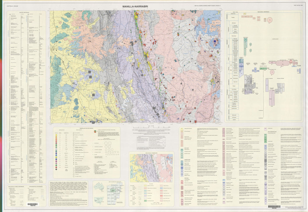 Image of Manilla Narrabri 1:250000 Metallogenic map