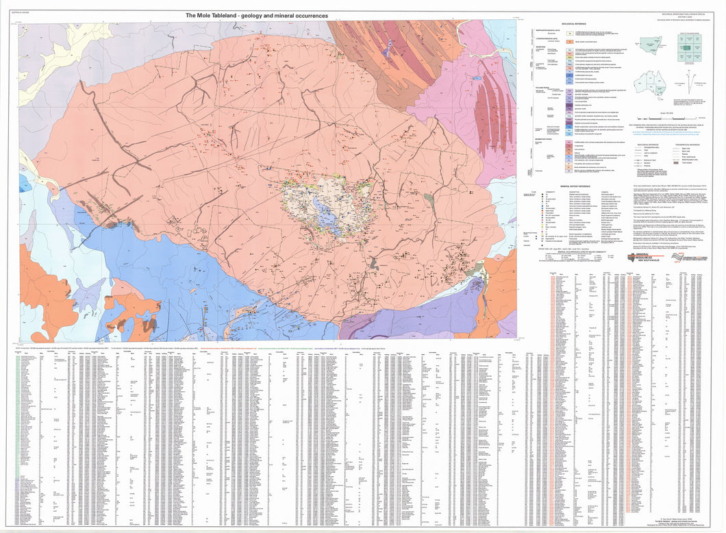 Image of Mole Tableland 1:50000 Geology and Mineral Occurrences  map