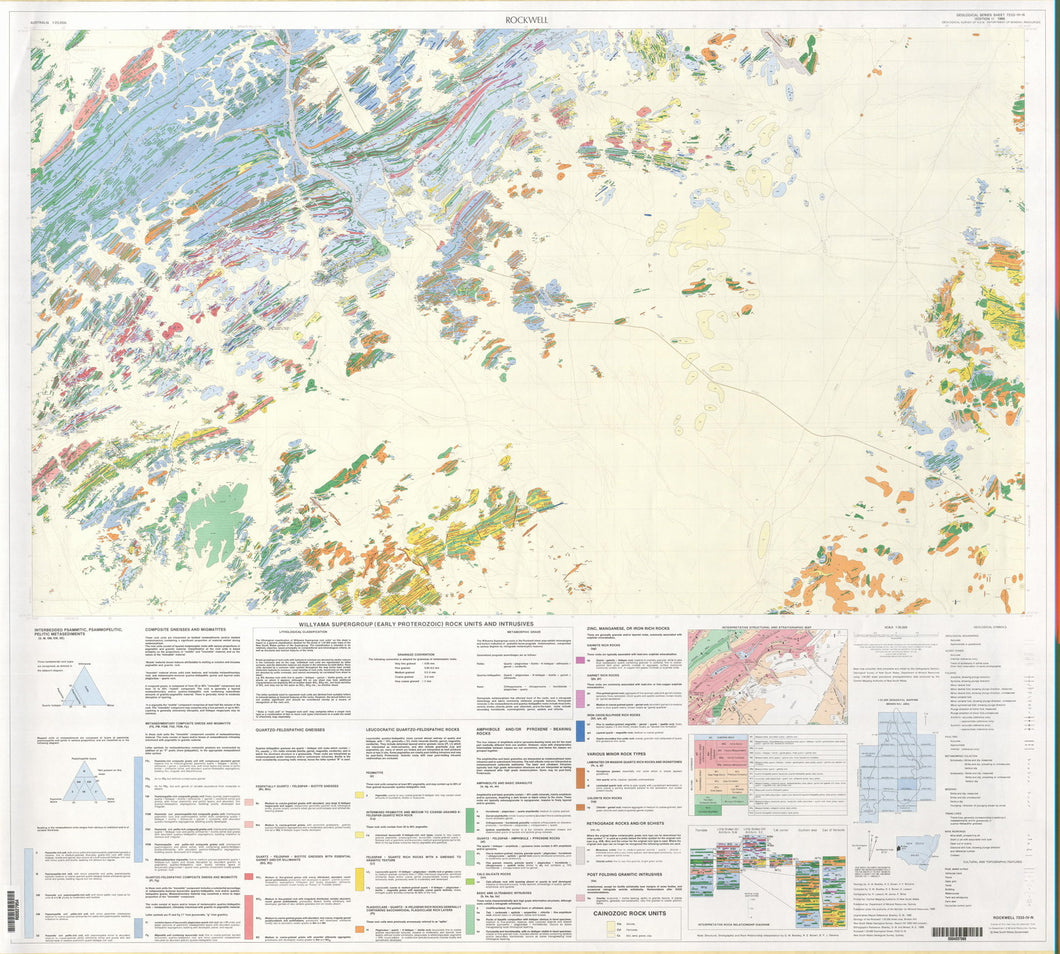 Image of Rockwell 1:25000 Geological map