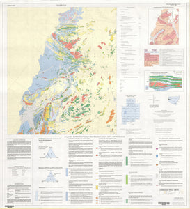 Image of Silverton 1:25000 Geological map
