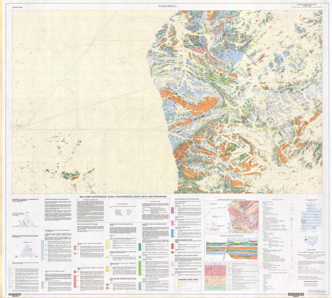 Image of Thackaringa 1:25000 Geological map