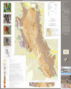 Image of Mount Arrowsmith Inlier 1:25000 Geological map