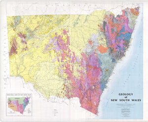 Image of Geological Map of New South Wales 1:1 000000  map