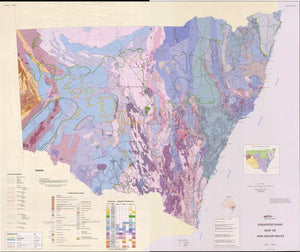 Image of Stratotectonic Map of New South Wales 1:1 000000  map