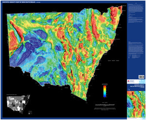 Image of Isostatic gravity map of New South Wales, 1:1500000  map