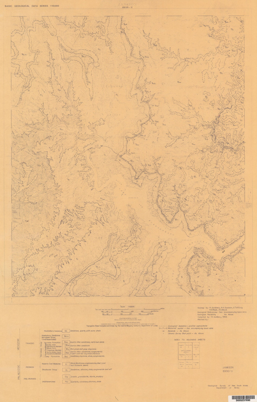 Image of Jamison 1:50000 Geological map