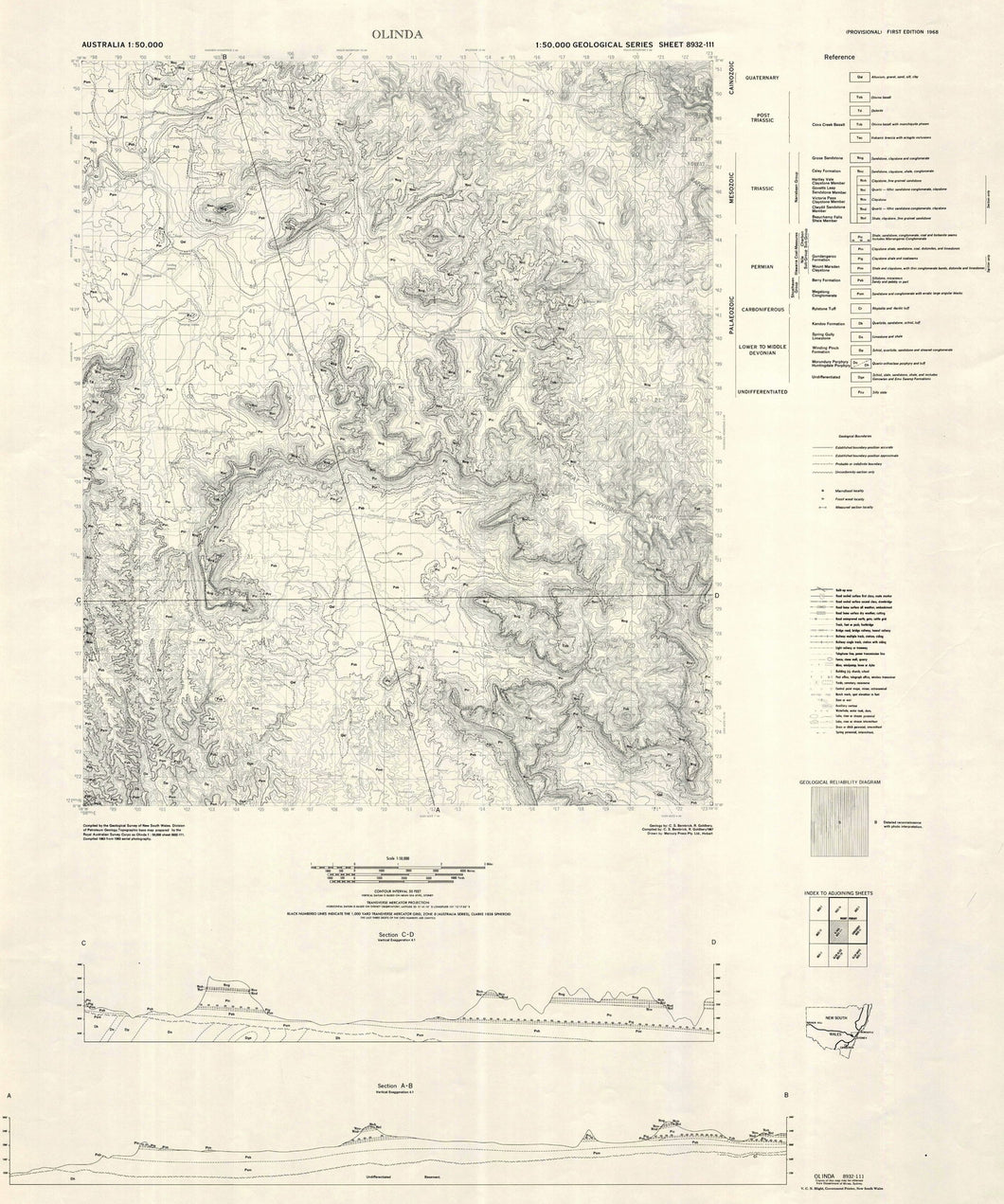 Image of Olinda 1:50000 Geological map