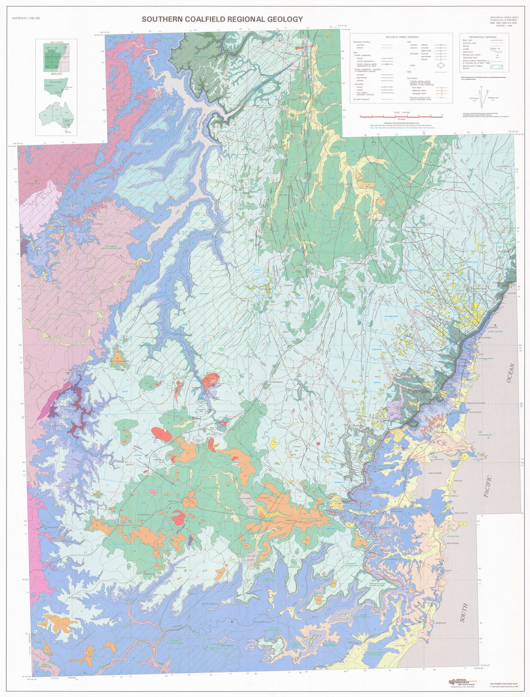 Image of Southern Coalfield Regional 1:100000 Geology map