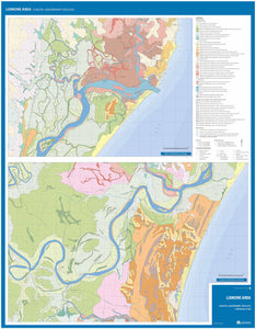 Image of the reverse side of the Lismore Area Coastal Quaternary Geology map.