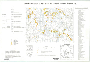 Image of Sofala Hill End Stuart Town Gold Deposits Map 1:250000  map