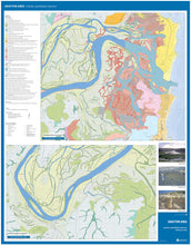 Load image into Gallery viewer, Image of reverse side of Grafton Area Coastal Quaternary Geology map