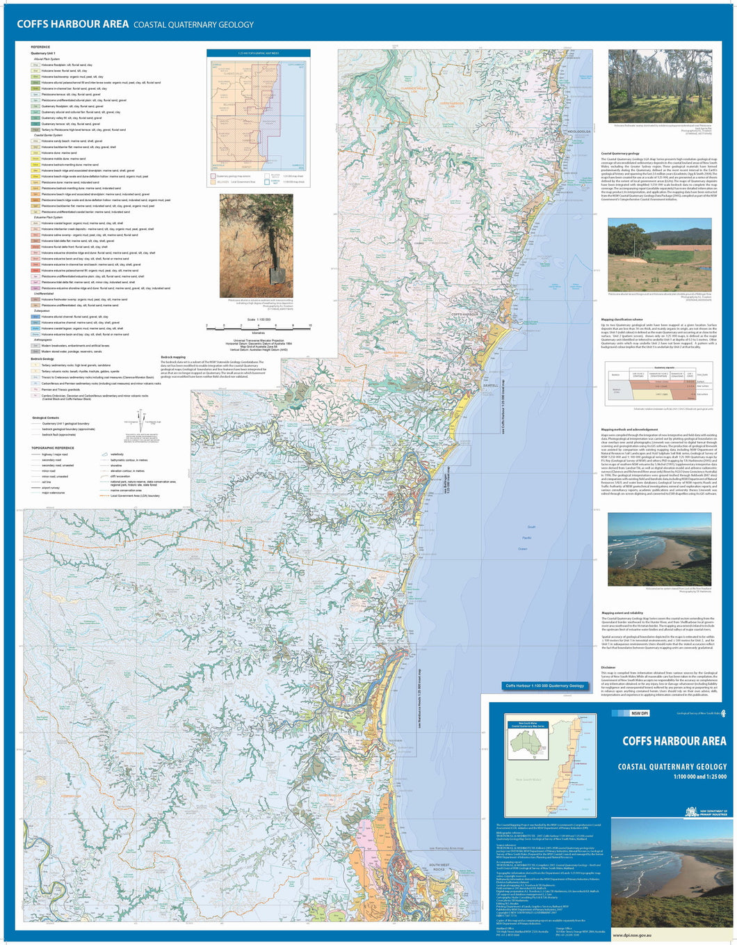 Image of Coffs Harbour Area Coastal Quaternary Geology map