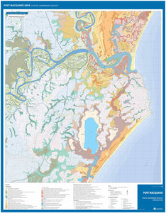 Image of reverse side of the Port Macquarie Area Coastal Quaternary Geology map