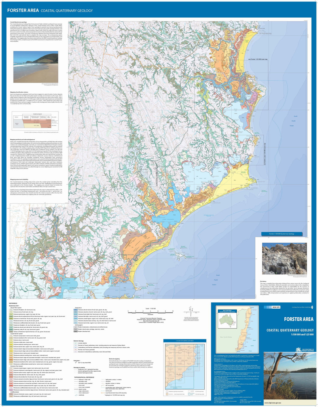 Image of Forster Area Coastal Quaternary Geology map