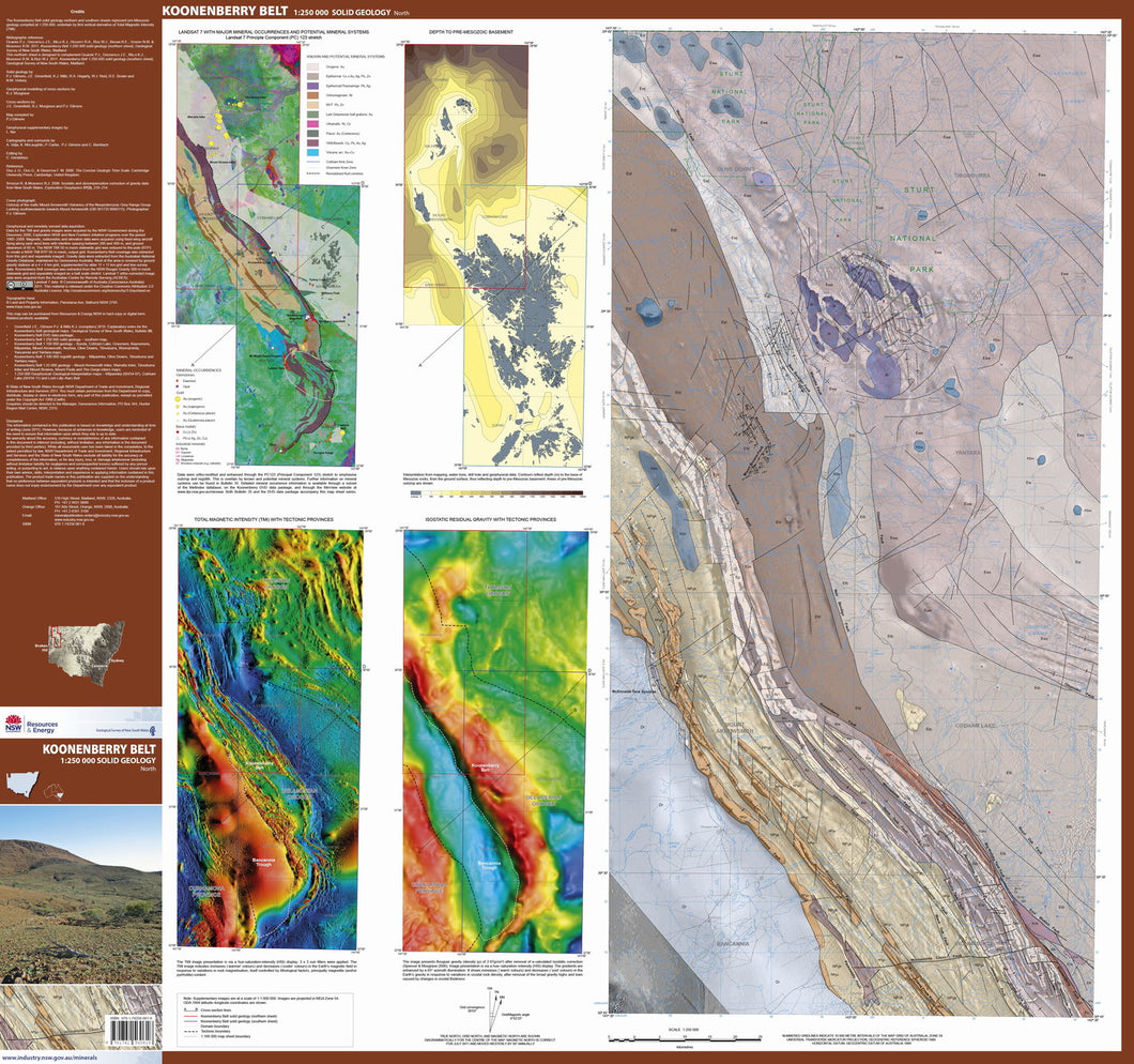 Image of Koonenberry Belt 1:250000 Solid Geology North  map