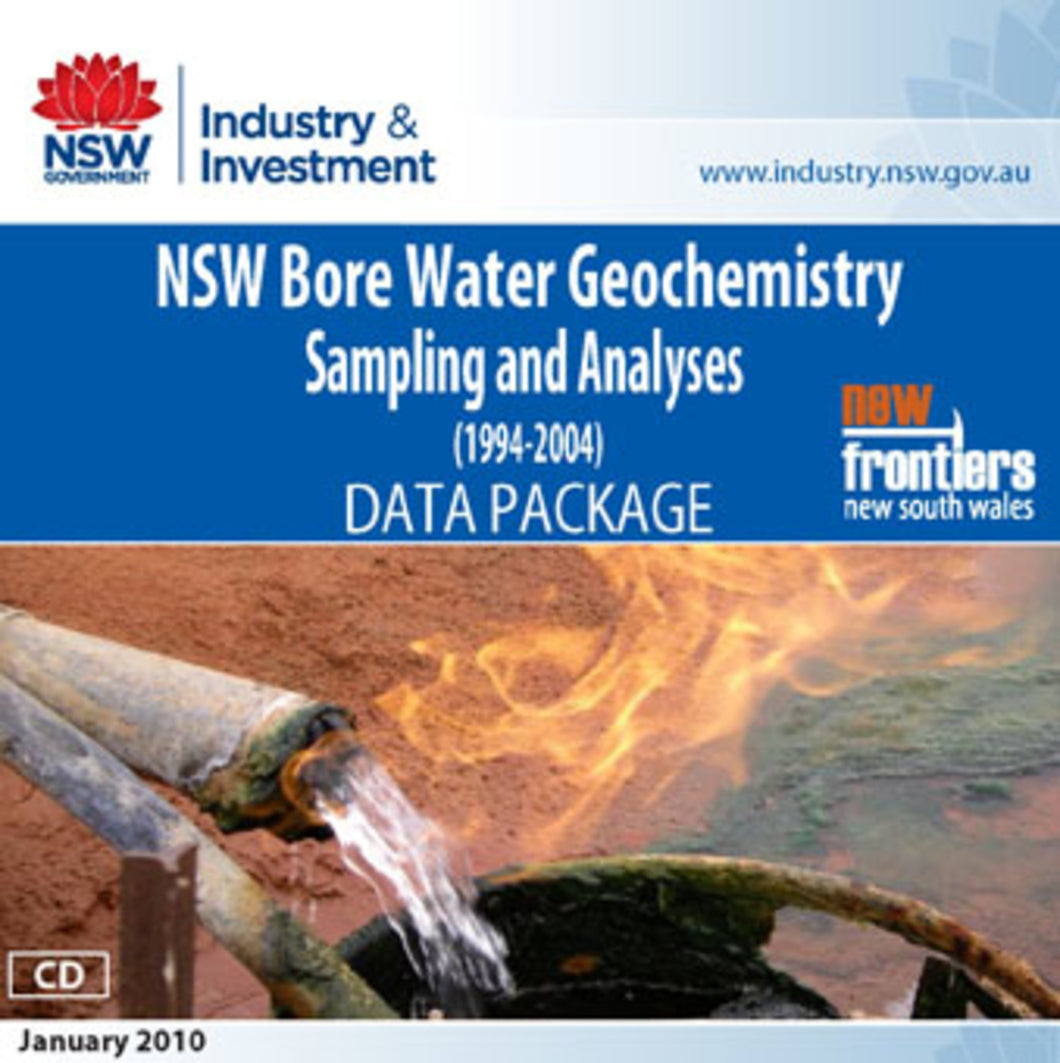 Image of New South Wales Bore Water Geochemistry Sampling and Analyses 1994 2004 digital data package