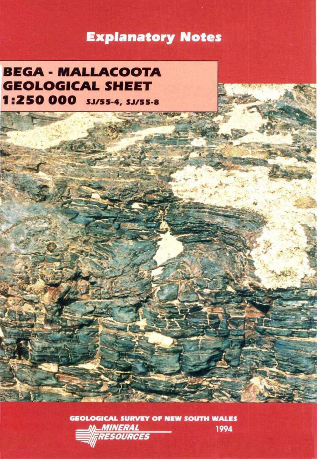 Image of Bega Mallacoota Explanatory Notes 1994 book cover