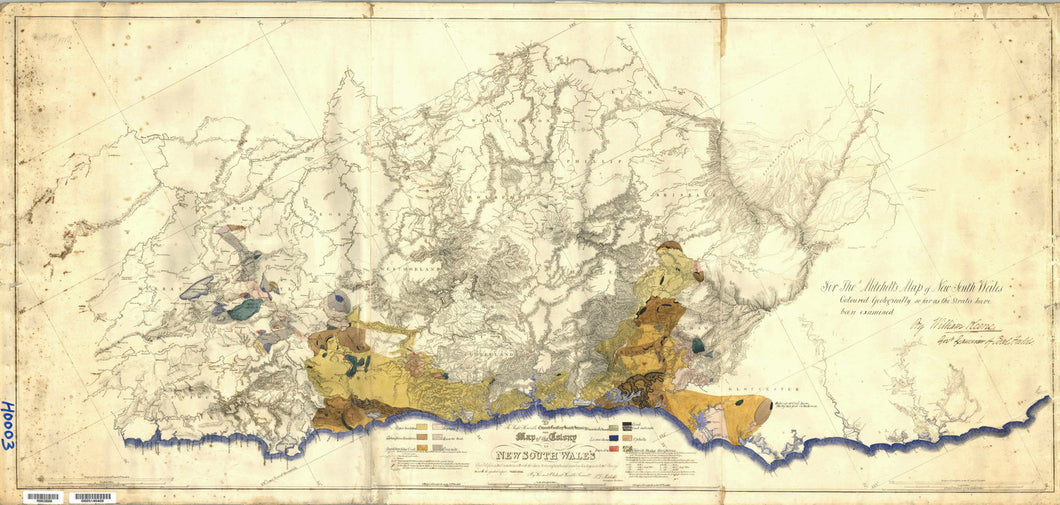 Image of Map of the Colony of New South Wales   1834  map