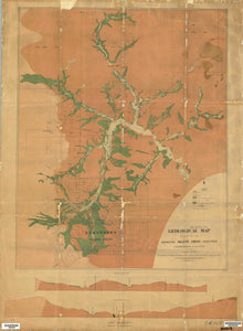 Image of Geological Map of the Elrington Gold Field   1892  map
