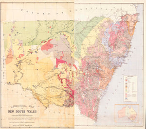 Image of Geological Map of New South Wales   1893  map