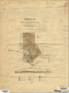 Image of Geological Map at Marangaroo   1901  map