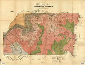 Image of Geological Map of the Gerringong District   1905  map
