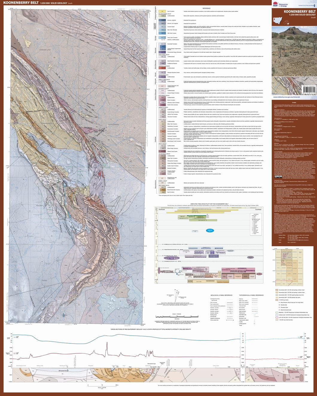 Image of Koonenberry Belt 1:250000 Solid Geology South  map