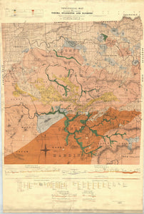 Image of Geological Map of the Tin Bearing District near Tingha   1910  map