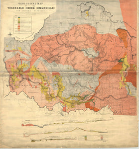 Image of Geological Map of Vegetable Creek, Tin Mining District   1910  map