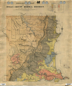 Image of Geological Map of the Bulli   Mount Kembla District   1912  map