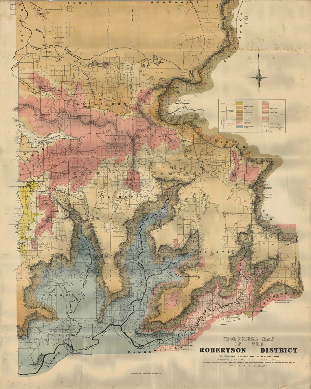 Image of Geological Map of the Robertson District   1912  map