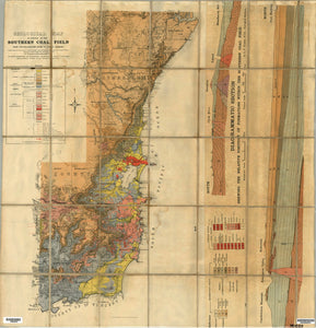 Image of Geological Map of Portion of the Southern Coalfield   1914  map