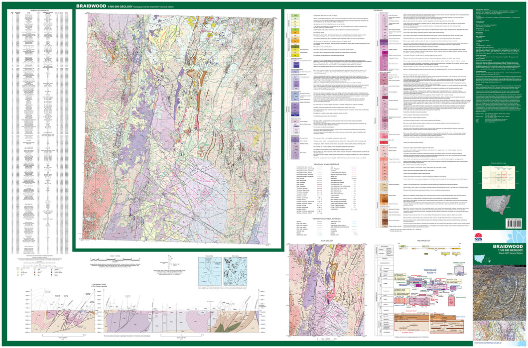 Image of Braidwood 1:100000 Geological map