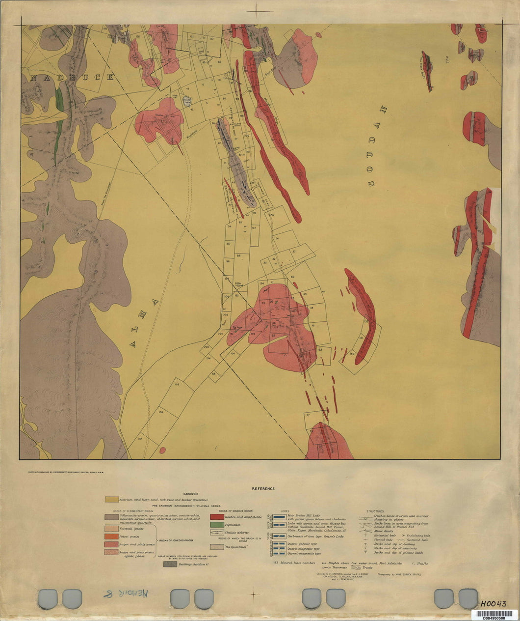 Image of Geological Map of Broken Hill   1921  map