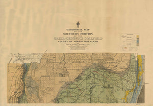 Image of Geological Map of the Greta Cessnock Coalfield   1927  map