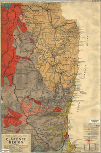 Image of Geological Map of the Clarence Region, 1944  map