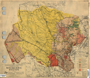 Image of Geological Map of the Macquarie Region, 1944  map